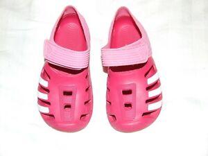 Adidas Pink girls sandals size 11