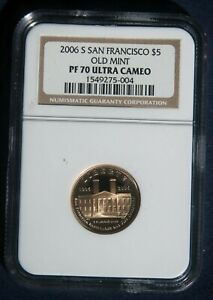 2006-S SAN FRANCISCO OLD MINT $5 GOLD PROOF NGC PF70 ULTRA CAMEO L-260212
