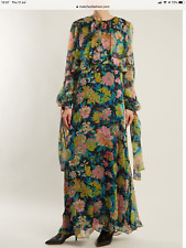 MSGM  Floral-print silk-chiffon dress kaftan