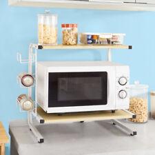 SoBuy® Mikrowellenhalter,Küchenregal,Miniregal,Mikrowellenregal,FRG092-N
