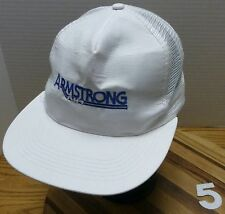 ARMSTRONG AIR HEATING FURNACE HAT WHITE SNAPBACK ADJUSTABLE VERY GOOD CONDITION