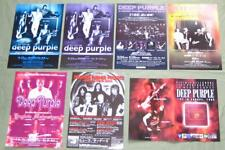 Free shipping! DEEP PURPLE Japan PROMO handbill & flyer x 7 set RICHIE BLACKMORE