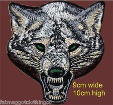 Wolf head patch, Lone Wolf head Patch for Biker, Triker, Heavy Metal