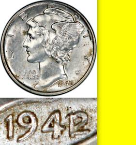 1939 Mercury Head Silver Dime Grading in the AU Range Nice Original Coins
