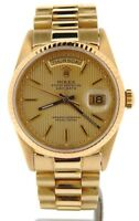 Mens Rolex Day-Date President Solid 18k Yellow Gold Watch Tapestry Dial 18238