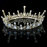 Wedding Bridal Retro Crystal Queen Tiara Crown Headband Princes Hair