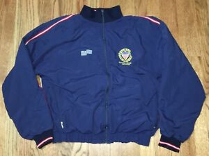 Vintage Official Sports US Soccer Fed National Referee Program Medium Jacket 90s