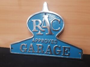 CAST ALUMINIUM ** RAC **APPROVED GARAGE VINTAGE STYLE SIGN WORKSHOP MAN CAVE