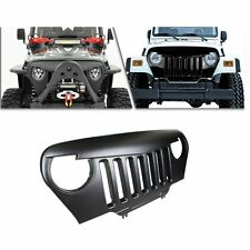 Front Matte Black ABS Angry Bird Grill Grilles For 97-06 Jeep Wrangler TJ