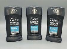 DOVE MEN+CARE 3 pack Deodorant Clean Comfort Non-Irritant Antiperspirant  2.7 oz