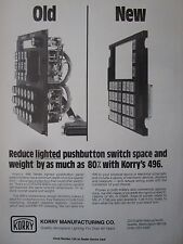 2/1982 KORRY 496 SERIES LIGHTED PUSHBUTTON SWITCH MILITARY COMMERCIAL AD