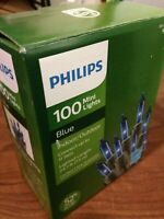 Philips 100 Mini String Lights, Blue, Tested, New