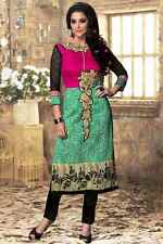 US SELLER Women Indian/Bollywood Kurti/Kurta/Tunic/Top/Blouse XL/40 W/EMBROIDERY