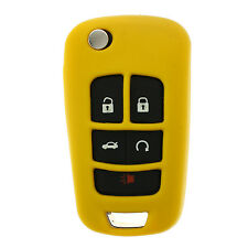 Yellow GM Flip Key Protective Silicone Case cover