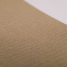 Eco 5 Sheets of A4 Brown Ribbed Rustic Kraft Craft Card 300GSM