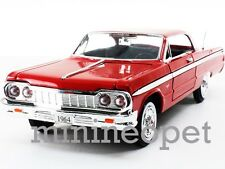 MOTORMAX 73259 1964 64 CHEVROLET IMPALA 1/24 DIECAST RED