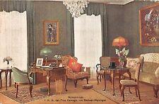 Germany postcard Frankfurt Hotel Frankfurter Hof Wohnzimmer I.K.H  Frau Herzogin