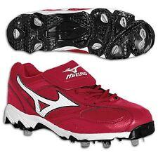 MIZUNO Red Nine Spike Vintage G5 Low Baseball Cleats Men's Size 15 M US
