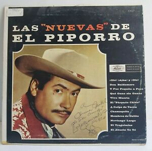 LALO GONZALEZ EL PIPORRO | Las Nuevas de El Piporro | AUTOGRAPHED | MUSART LP EX