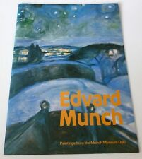 Edvard Munch - Paintings from Munch Museum Oslo   1980 ART EXHIBITION CATALOGUE