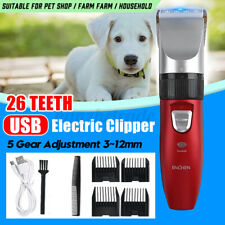 Pet Hair Clipper Dog Cat Fur Eletric Shaver Trimmer Grooming Set Low