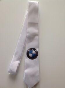 bmw tie new slim tie gift for BMW logo badge turbo driver