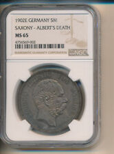 New listing Germany - 5 Marks 1902-E Saxony Silver Crown - Ngc Premium Toned Ms 65 Proof