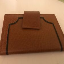 "Buxton mens leather brown snap closure bifold 3"" X 4"" wallet new"