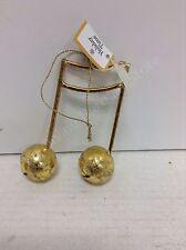 Christmas antique Gold musical sixteenth notes ornament jingle  bells musician