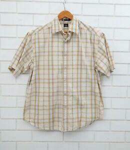 Sean John Men's Short Sleeve Pearl Snap Button Up Shirt Size Large