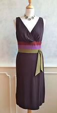 Kay Unger Diseñador Marrón Verde Púrpura ocasión formal cóctel Vestido Pequeño 8