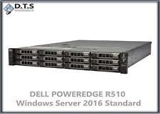 Dell PowerEdge R510 48gb 2.93Ghz 2x 300GB 15k H700 SERVER 2016 Standard COA