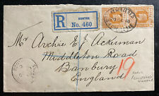1910 Bonthe Sierra Leone Registered Cover To Banburg England