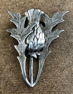 Vintage Beau Sterling Silver Thistle Brooch Pin