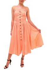 Free People Women's Sleeveless Buttoned Dress Pink Size XS RRP £70 BCF84