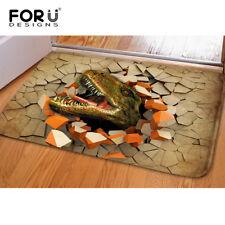 Flannel Indoor Mats Animal Dinosaur Print Non Slip Bath Room Water Absorbent Rug