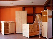 Chambre de Bébé Complet Lot Armoire Commode Lit 5Farben Étagère Massif Gravure