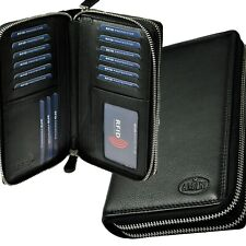 AMARI XXL Geldbörse mit RFID-Schutz und 2 umlaufenden Reißverschlüssen 40 Fächer