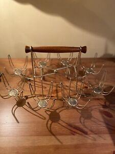 Vintage Rack Holder For Roly Poly Glasses RACK ONLY Holds 8 Glasses