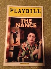 Playbill -  THE NANCE from 2013 Starring Nathan Lane