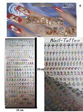1x CREATIVE DECORATIVE VINYL RAINBOW STICKERS NAIL STICKERS 1 SHEET 250 pcs.Nr.9