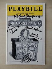 April 2002 - Barrymore Theatre Playbill w/5 Autos - Tale Of The Allergists Wife