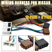 ISO Wiring Harness Stereo Radio Wire Lead Loom Connector Adaptor For Nissan