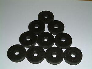 M6 Rubber Washers 25.5mm O/D X 6mm I/D X 5/5.5mm Thk, various quantities
