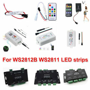WS2812B WS2811 SK6812 LED Music Pixel Controller Addressable Wireless RF Control