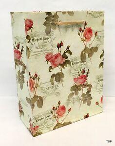 Gift Bag 47587 Antique Rose Matte Paper Bag Gift Bag 18 x 23 X 8 CM