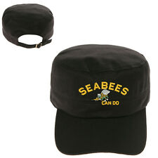 SEABEES CAN DO LOGO MILITARY CADET ARMY CAP HAT HUNTER CASTRO