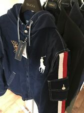 Genuine RALPH LAUREN Blue Hooded Jacket XL  Windbreaker