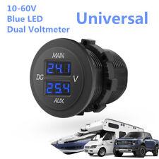 DC 10-60V Blue LED Digital Dual Voltmeter Panel Voltage Monitor Pickup Universal