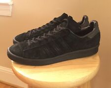 Adidas Campus 80s Originals Sneakers Shoes, Men's Size 11 - Black Mono